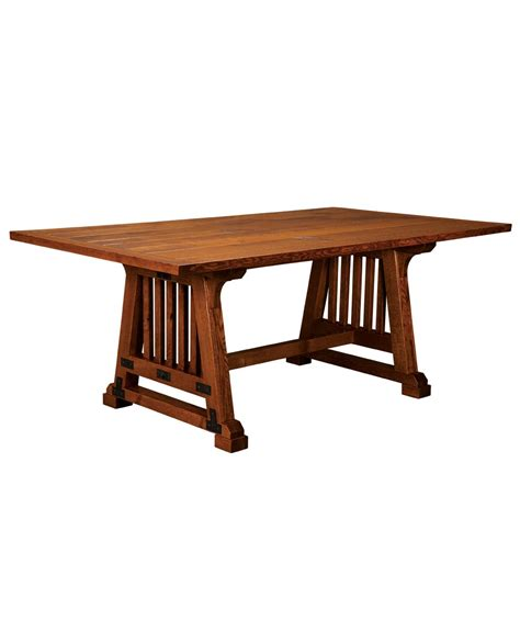Allegheny trestle table amish direct furniture