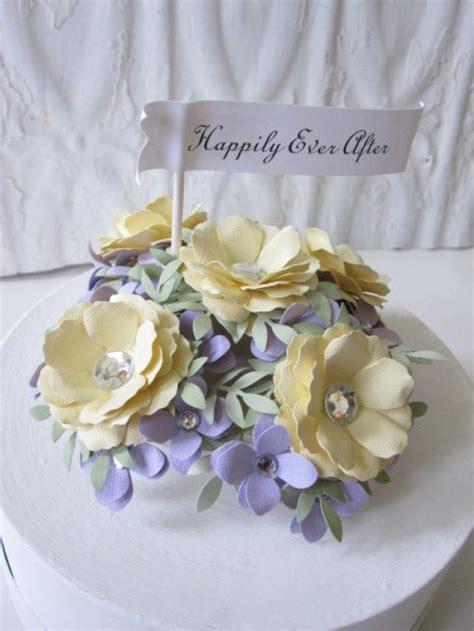 Handmade Flowers For Wedding - wedding cake topper handmade paper flowers 2503008 weddbook