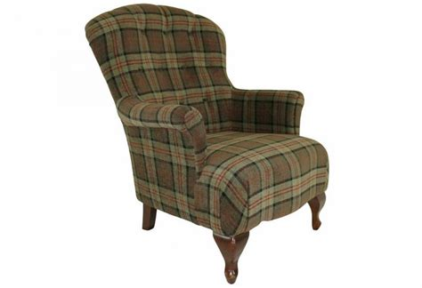 Plaid Armchair by Xyz Oban Armchair Traditional Spoon Back