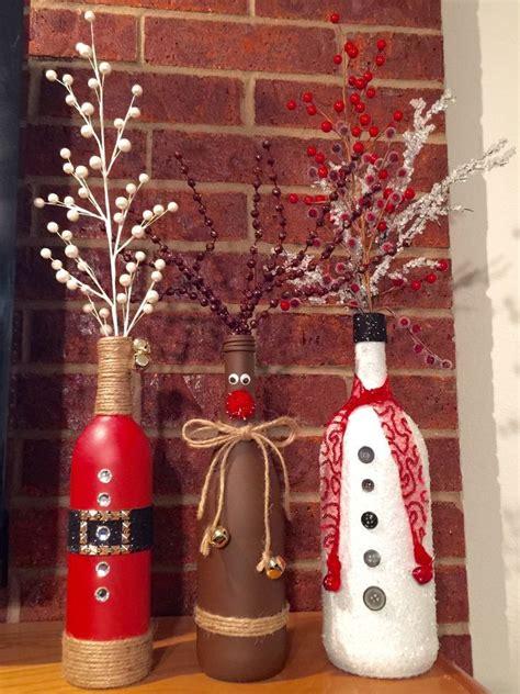 decorate wine bottle for christmas decorating wine bottles for billingsblessingbags org