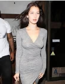 Hot or hmm bella hadid los angeles bardot harlow grey wrap dress