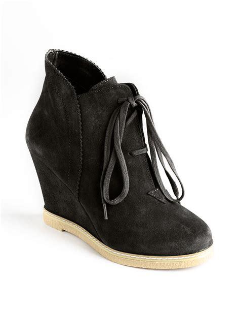 kelsi dagger shoes kelsi dagger helix laceup wedge boots in black black