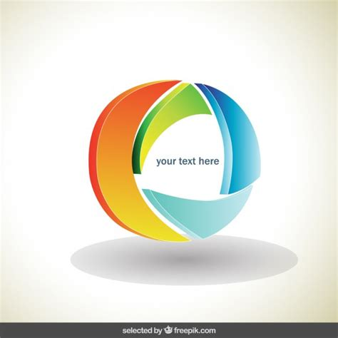 colorful circle logo circle colorful 3d logo vector free