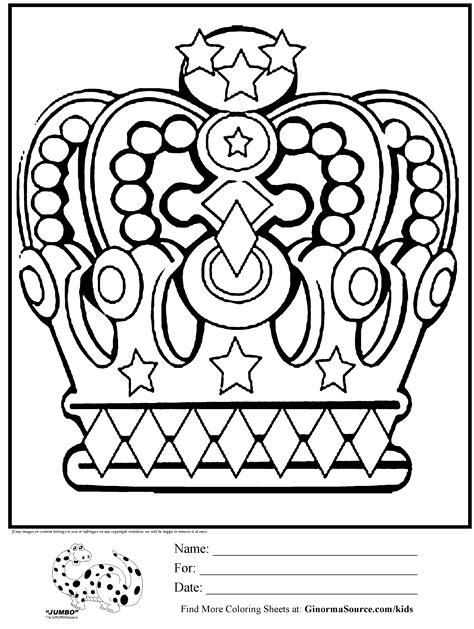 king crowns coloring pages coloring home