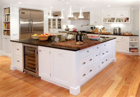 cutting board kitchen island harding township farmhouse traditional kitchen new york by arturo palombo architecture