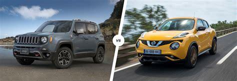 jeep nissan jeep renegade vs nissan juke crossover clash carwow