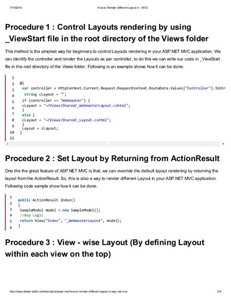 mvc layout render menu how to render different layout in asp net mvc