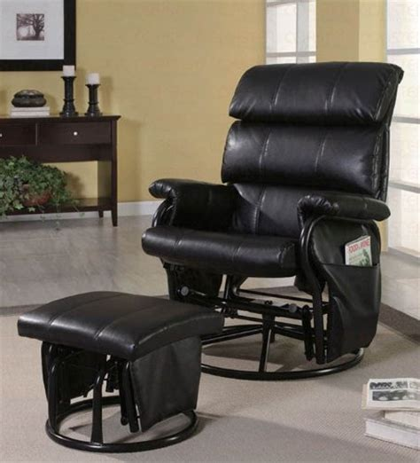 Cheap Rocking Recliners by Black Friday New Black Leatherette Recliner Rocking