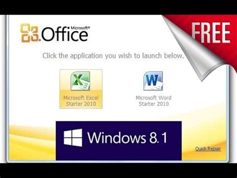 Microsoft Office Windows 8 free get microsoft office starter edition 2010 for