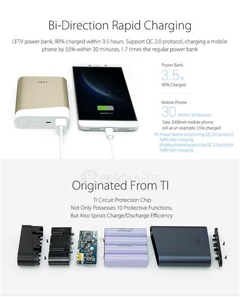 Charger Vivo 2 0a original letv 13400mah qc2 0 charge 2 way power bank