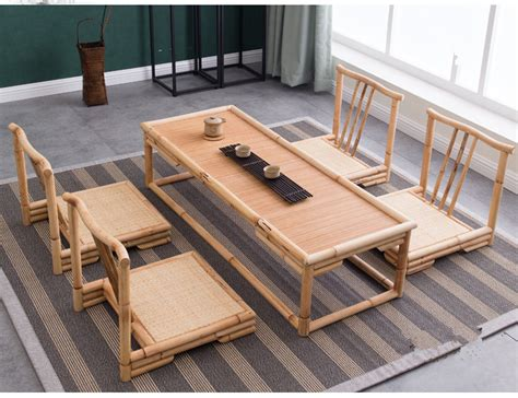 Floor Tables by Aliexpress Buy 5pcs Set Modern Bamboo Furniture