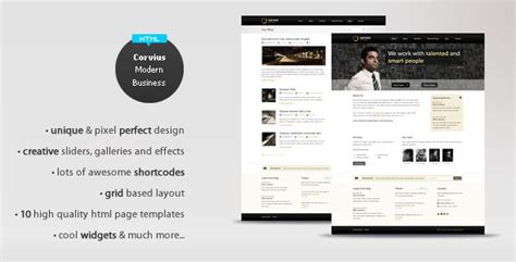 50 Awesome Web Design Templates For Business Web Graphic Design Bashooka Modern Business Website Templates