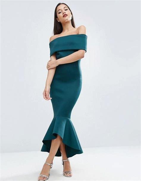 Jumpsuit Scuba Premium Murah 3 asos asos premium fold peplum midi dress scuba style fabric shoulder neckline dipped