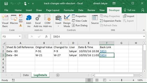 online tutorial vba excel track changes automatically in worksheet with vba excel