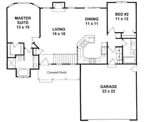 2 bedroom ranch style house plans unique best 25 2 bedroom