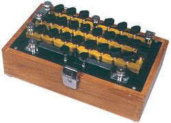 resistance decade boxes definition physics lab equipment decade resistance box exporter from ambala