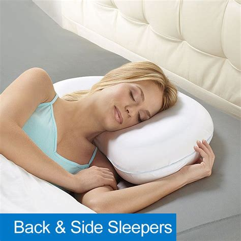 Firm Pillows For Side Sleepers by Biosense Plus Arc Shaped Sleep Pillow With Cool Gel