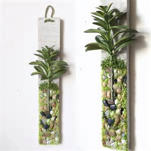 Succulent Wall Decor by Plant Wall Hanging Artificial Succulent Moss By Papermemoirs