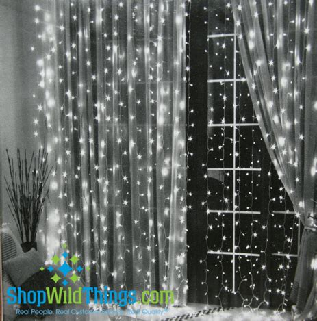curtains lights led warm white light curtain 6 long with 144 lights