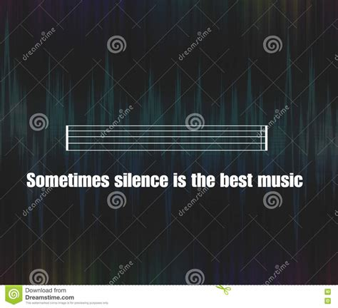 unknown music silence quote background stock illustration image 72437532