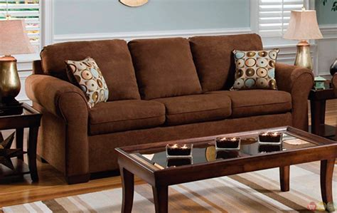 Chocolate Living Room Furniture Chocolate Brown Microfiber Sofa And Seat Living Room Furniture Set