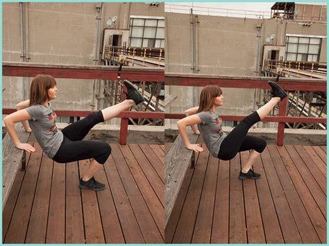 bench kick out park bench workout routine beautylish