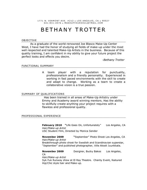 resume exles 10 best accurate detailed curriculum vitae makeup artist resume template