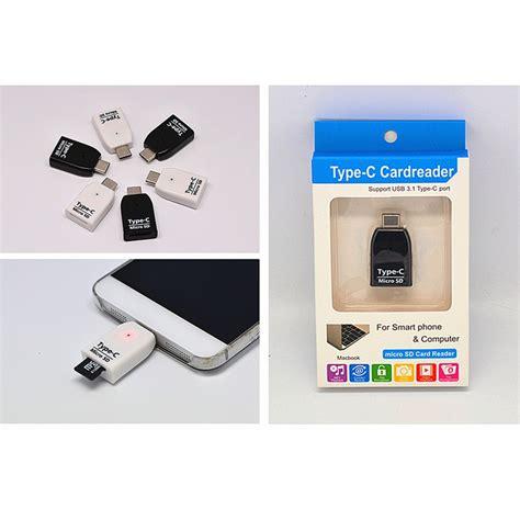 Usb Otg Surabaya card reader otg usb 3 1 type c ke micro sd white