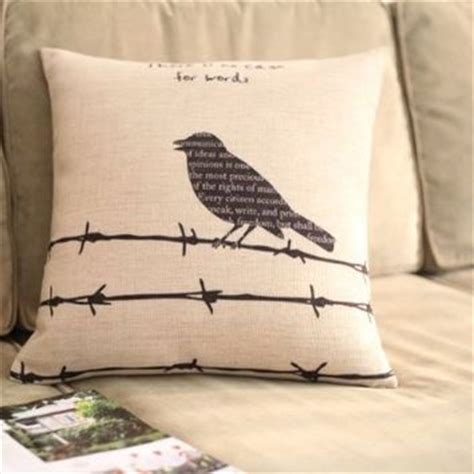 diaidi tumblr linen little bird throw pillow sofa cushion