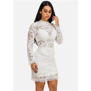 womens juniors white crochet lace mini dress 41290p