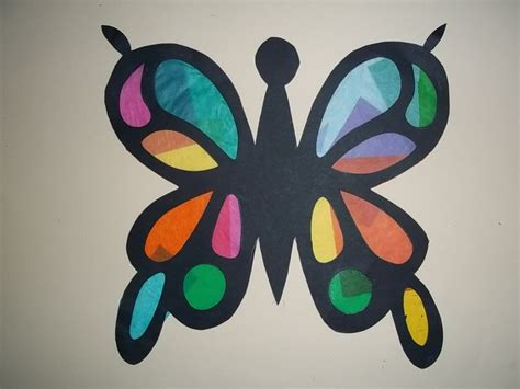 Butterfly Construction Paper Craft - b is for butterfly craft kit butterfly crafts
