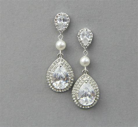 Hochzeit Ohrringe by Wedding Earrings Vintage Bridal Earrings Wedding Pearl