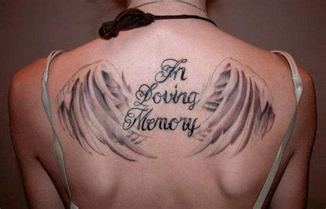 in loving memory tattoos for dad in loving memory on back