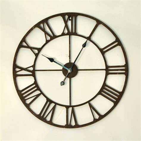 design home decor wall clock free shipping via dhl 65cm 78 7in vintage iron 3d large