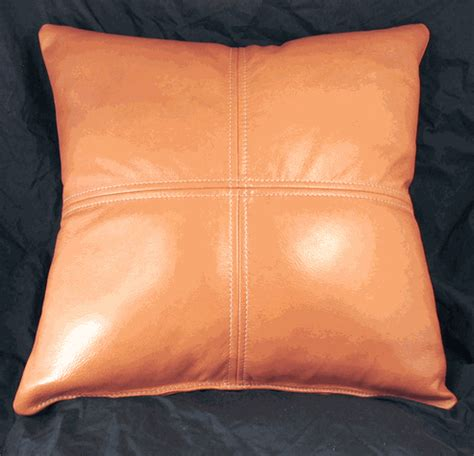 Leather Pillows Sale by Orange 18 Quot Classic Style Leather Pillow Special