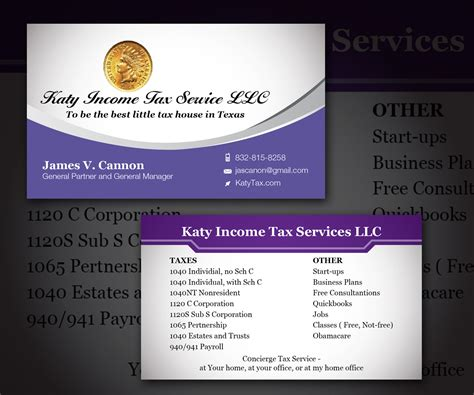 Income Tax Business Card Templates by Income Tax Business Cards Choice Image Business Card