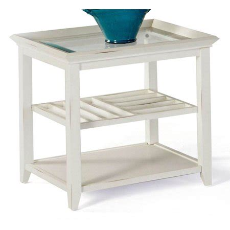 rectangular end table with 2 shelves walmart