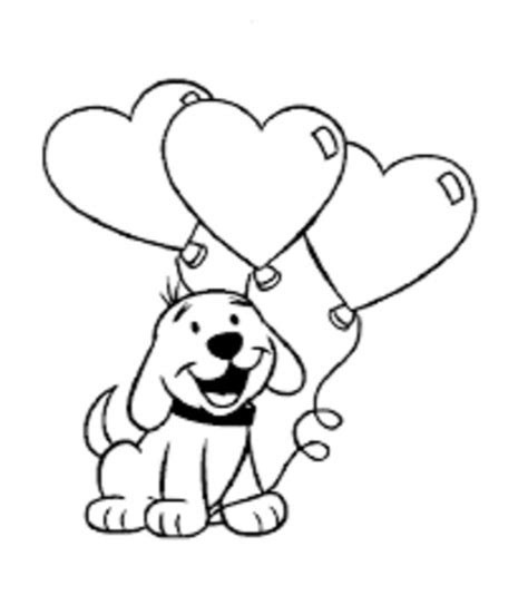 valentines day coloring pages with dogs valentine day dog coloring page coloring book