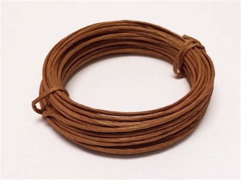 paper covered craft wire flower crowns 31 foot roll brown paper covered by