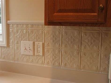 white tin backsplash pin by eileen murray on my painted country kitchen