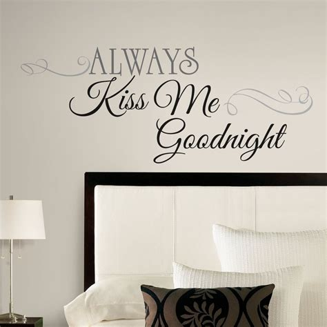 Wall Transfers Bedroom by New Large Always Me Goodnight Wall Decals Bedroom
