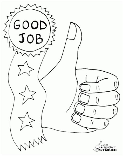 coloring page for job good job coloring pages printable