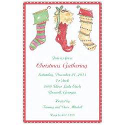 three holiday stockings christmas invitations paperstyle