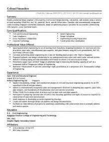 Structural Designer Sle Resume by Professional Assistant Structural Engineer Templates To Showcase Your Talent Myperfectresume