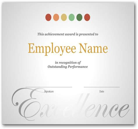 employee anniversary certificate template the 25 best certificate of recognition template ideas on