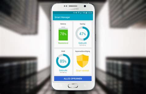 layout app samsung hoe de smart manager functie van samsung averechts werkt