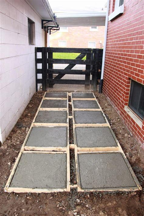 poured concrete patio on dover pouring concrete pavers backyard makeover