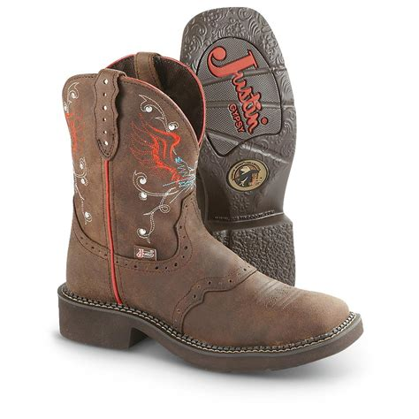 womans justin boots s justin 174 boots aged bark 610325