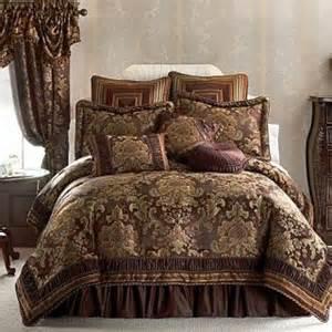 Ebay Comforter Sets New Croscill Serafina Brown Plum Gold Jacquard King 4pc