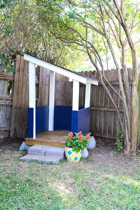 backyard playhouse easy diy backyard playhouse love renovations